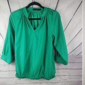 THE LIMITED | green 3/4 sleeve blouse size XS